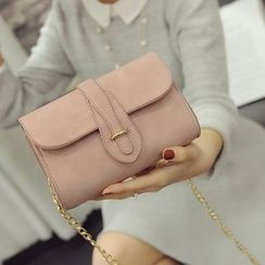 Secret Garden - Faux Leather Flap Shoulder Bag
