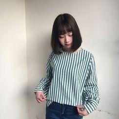 Eva Fashion - 細條紋長袖襯衫