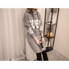 VIZZI - Hooded Long-Sleeve Thick Dress