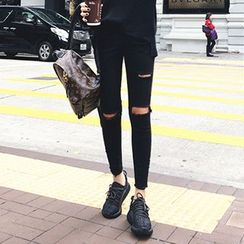 OCTALE - 做旧窄身牛仔裤