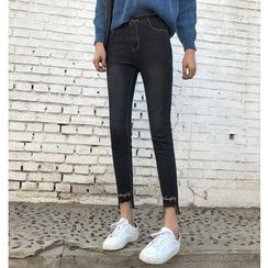 Jeans Kingdom - Embroidered Skinny Jeans