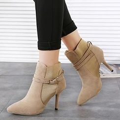 Mancienne - Belted Heel Ankle Boots