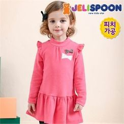 JELISPOON - Girls Mock-Neck Beribboned Dress