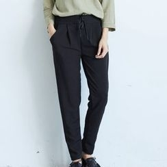 BAIMOMO - Drawstring Tapered Pants