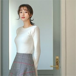 Styleberry - Boat-Neck Knit Top