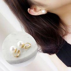 Persinette - Faux Pearl Clip-On Earrings