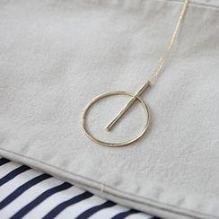 STYLEBYYAM - Circle Pendant Drop Necklace