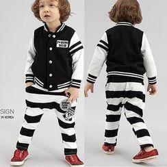 Lullaby - Kids Striped Appliqué Pants