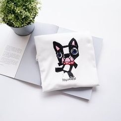 Polaris - 小狗印花短袖T恤