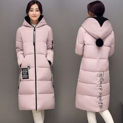 lilygirl - Applique Hooded Padded Coat