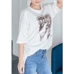 REDOPIN - Round-Neck Printed T-Shirt