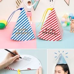 Homey House - Stripe Party Hat Birthday Card