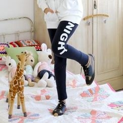 Cocopop - Brushed-Fleece Logo-Print Leggings