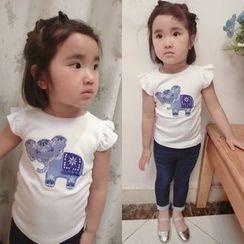 Happy Lala - 兒童短袖貼布T恤