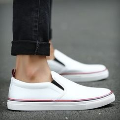 Muyu - Faux Leather Slip-Ons