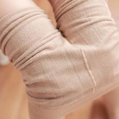 Cappuccino - Fleece-lined Stirrup Leggings