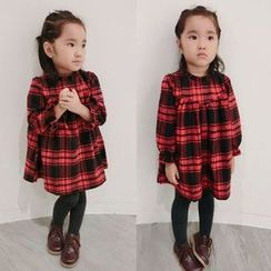 Happy Lala - Kids Long-Sleeve Plaid Dress