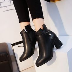 Wello - Chunky Heel Ankle Boots