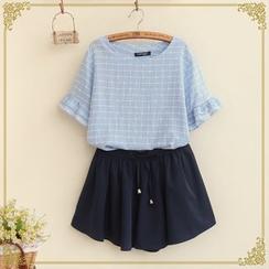 Fairyland - Check Short-Sleeve T-Shirt