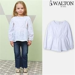 WALTON kids - Girls Eyelet-Lace Top