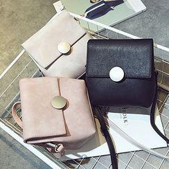 Youme - Metal Plate Buckle Shoulder Bag