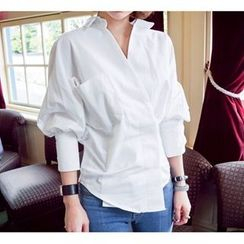 Athena - Balloon-Sleeve Blouse