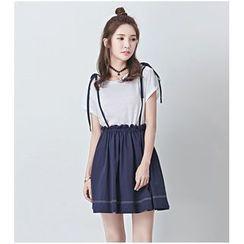 BORAN - Strappy Pleated Skirt