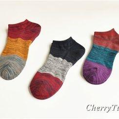 CherryTuTu - Colour Block Low Socks
