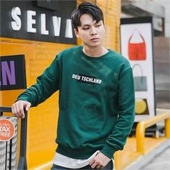 STYLEMAN - Long-Sleeve Lettering T-Shirt