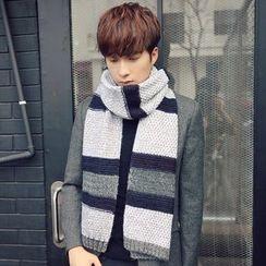 Amandier - 花纹针织围巾