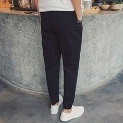 Streetstar - Embroidered Tapered Pants