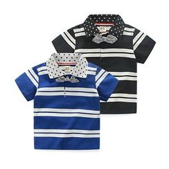 WellKids - Kids Short-Sleeve Striped Polo Shirt