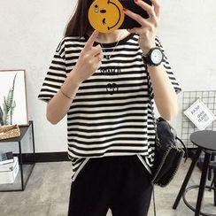 Qimi - Short-Sleeve Striped T-Shirt