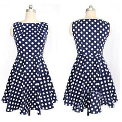 Eloqueen - Dotted Sleeveless Dress