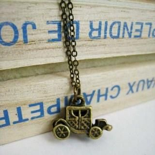 Copper Old Car Necklace