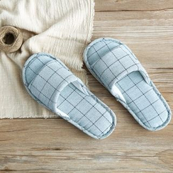 Cutie Bazaar - Couple Matching Check Slippers