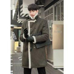 GERIO - Buttoned Faux-Shearling Coat