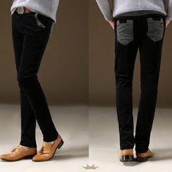 Denimic - Corduroy Straight-Leg Pants