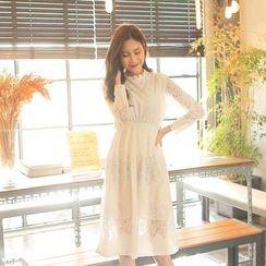 Cherryville - Lace A-Line Midi Dress