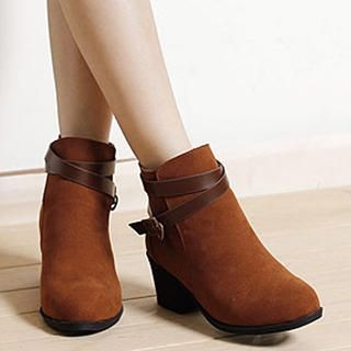 Lane172 - Buckled Ankle Boots