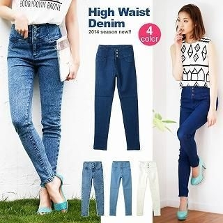 Luz Llena - High-Waist Skinny Jeans