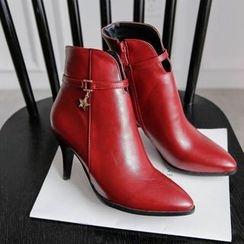 傾城 - 尖頭高跟踝靴