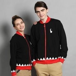 HappyTee - Printed Couple Hooded Jacket