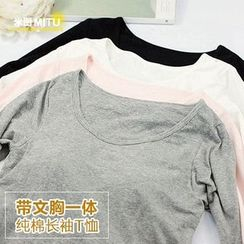 MITU - Long Sleeve T-Shirt With Pad