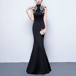 Luxury Style - Embellished Mermaid Evening Gown
