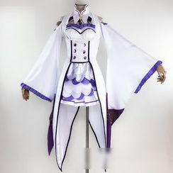 Comic Closet - Re: Zero Starting Life in Another World Emilia Cosplay Costume