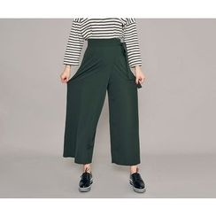 HOTPING - Wrap-Front Wide-Leg Pants
