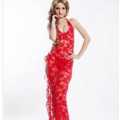 OhYeah - Slit-Side Lace Nightdress