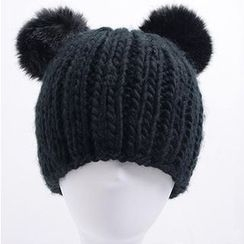 Obel - Fleece Ball Knit Beanie