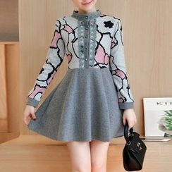 Ekim - Long-Sleeve Knit A-line Dress